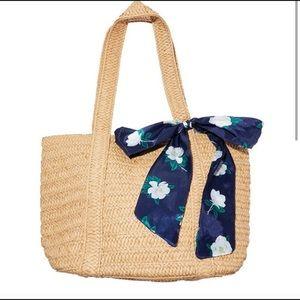 Draper james wicker style bag